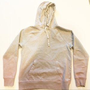 Hollister Gray & Pink Ombre Hooded Sweatshirt